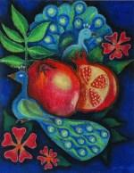 Peacocks and pomegranates