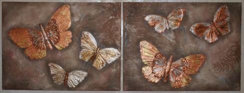 Bronze Butterflies-SOLD