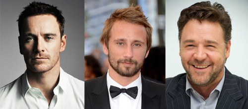 Michael Fassbender, Matthias Schoenaerts, and Russell Crowe