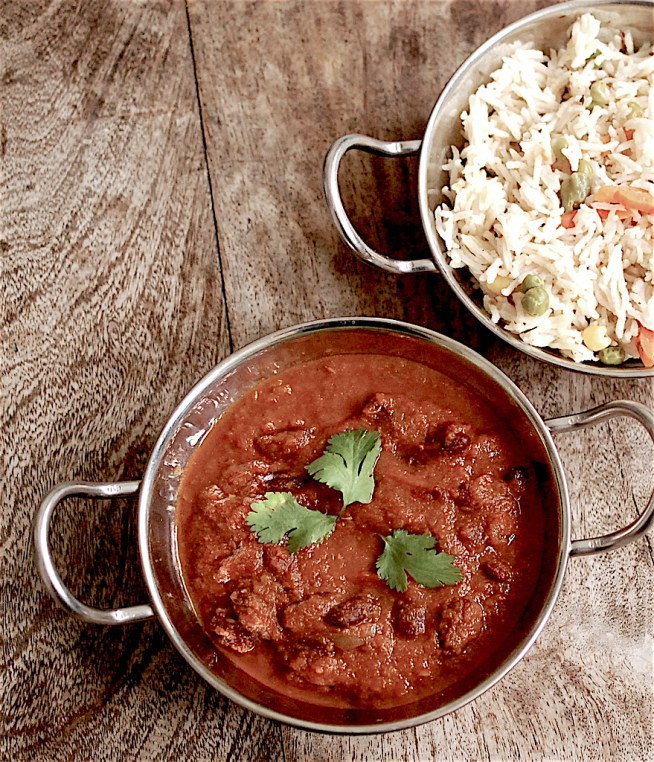 Kidney beans curry - rajma masala