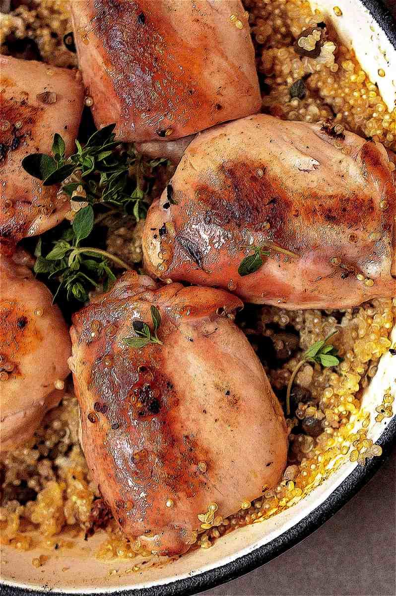 One pan lemon and chicken quinoa