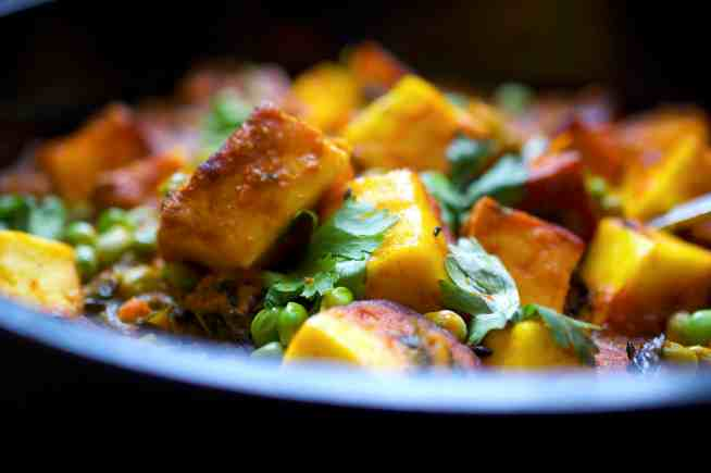 Paneer with Peas - Muttar Paneer
