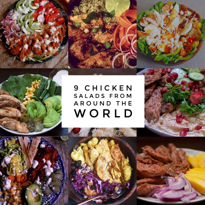 9 Quick and Healthy Chicken Salad ideas from around the world