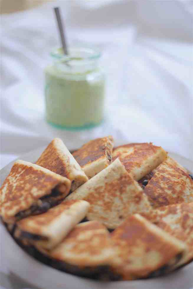 Black-Bean-Quesadillas-with-Avocado-Dip