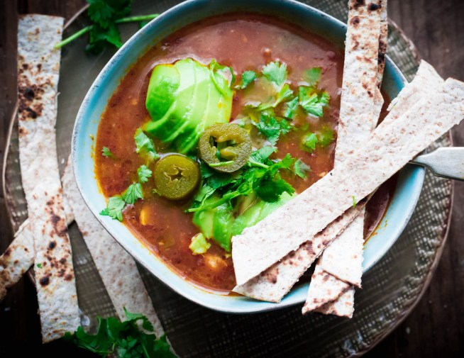 Chicken, Jalapeno and Lime Taco Soup