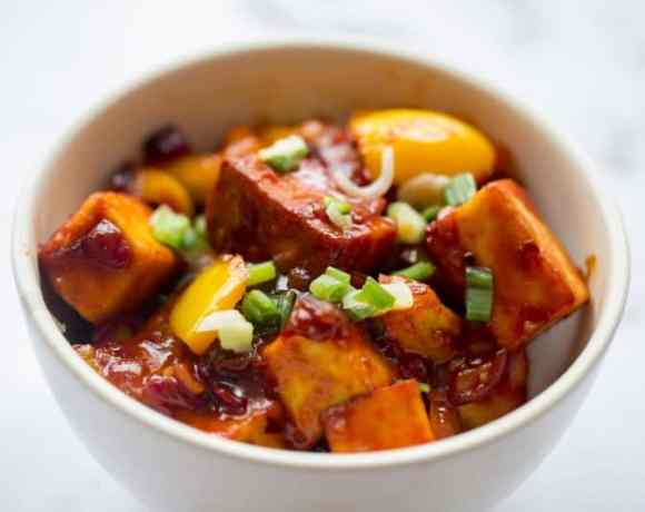 Chilli Paneer with Peppers