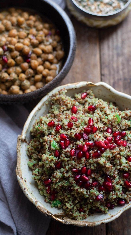 Coriander and Mint Chutney Quinoa