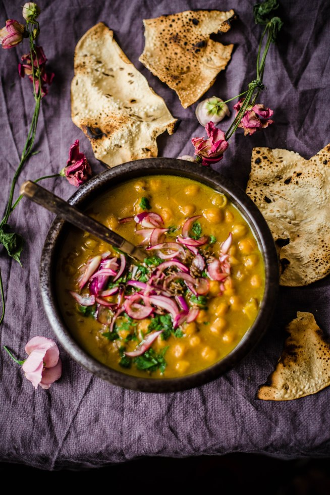 Indian Chickpea, Coconut and Lemon Stew
