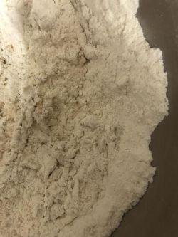 Flour in bowl of stand mixer