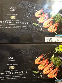 2 boxes of M&S Madagascan Prawns