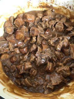 Pie mixture in pot