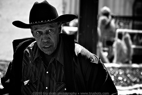 Man In Cowboy Hat by Trudy Hamilton
