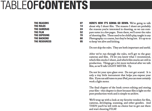 Jonathan Canlas' Film Is Not Dead PDF Table Of Contents