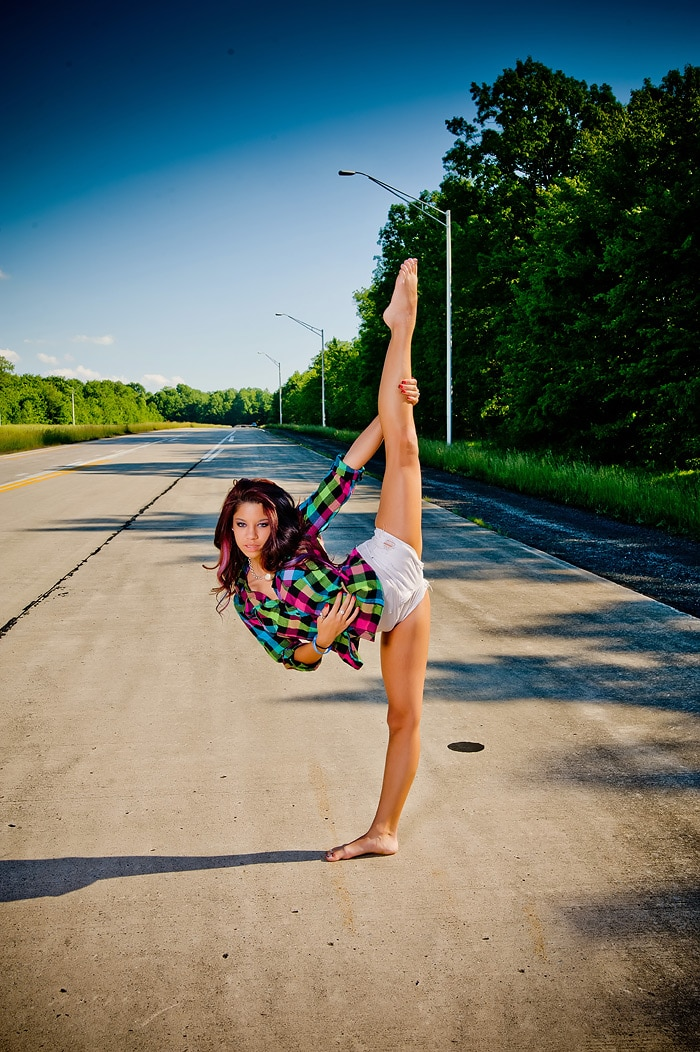 High School Senior Gymnast