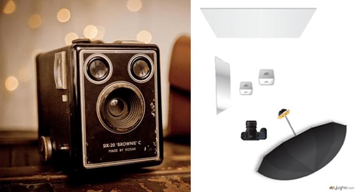 Brownie Camera Lighting Diagram
