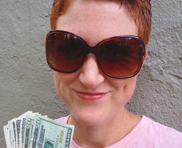 Angela Pointon With Money