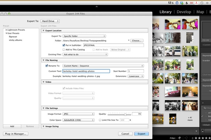 Lightroom Renaming Files