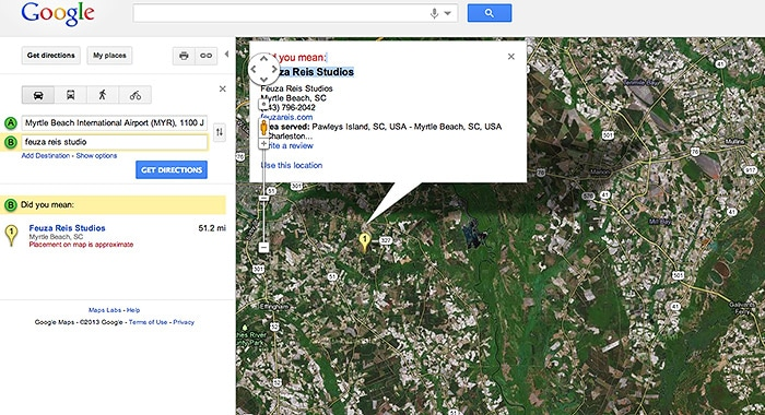 Google Map | Feuza Reis | South Carolina