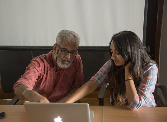 Dinesh Khanna With A Photography Student