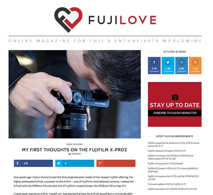 Fujilove - Fujifilm X-Pro2 Review