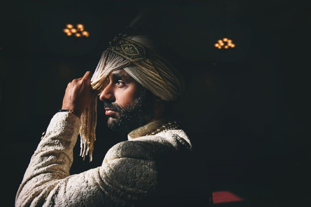 Create Client Experiences:Sikh Groom Tying His Turban