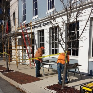 Work on the Felton Building downtown