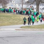 Pack of runners, Tiffin St. Paddy's Day 5k 2018