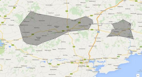 These two shaded areas are, unbelievably, the same postcode - P51.