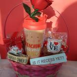 teacher valentines day basket