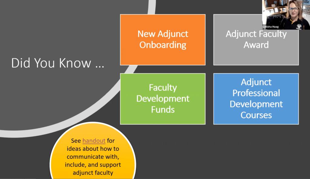 Adjunct-Department Communication: The Liaison Model