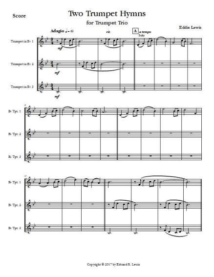 Two Trumpet Hymns - Score - Page 1