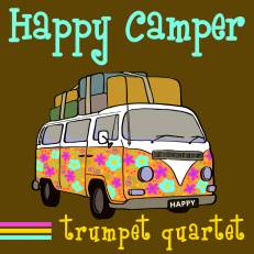 Happy Camper trumpet quartet sheet music PDF