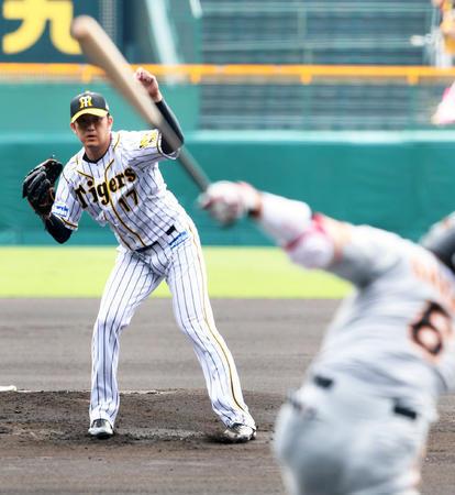 阪神岩貞ピンチで粘り腰7回無失点も8勝目ならず。
