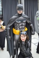 Andreas Tomala with Tiger Stone FX armored New 52 Batman inspired cowl and his wife as Catwoman