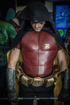 Belfast Boy Wonder with Tiger Stone FX Arkham Knight Robin mask - photo by Jason Murphy