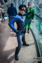 Darren Tubridy with Tiger Stone FX Arkham Knight Nightwing mask