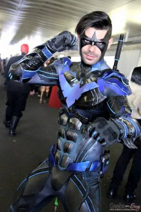 Dynamite Webber with Tiger Stone FX Arkham Knight Nightwing mask photo by Geeksaresexy net