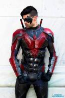 Dynamite Webber with Tiger Stone FX New 52 Nightwing mask - photo by Edward Fotography
