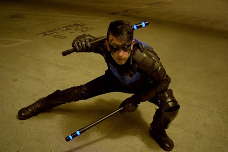 Gotham Gray with Tiger Stone FX New 52 Nightwing mask -- photo by Instagram.com/murrmaiden