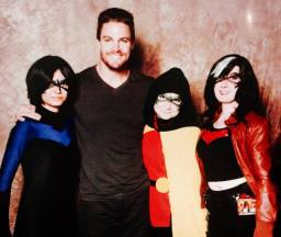 Laura Harvey & friends & Stephen Amell