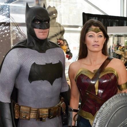 Thad Laskowski with Tiger Stone FX Batman V Superman Dawn Of Justice cowl - Photo by @gordontscott on Instagram