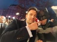 The Dark Knight Cosplay wearing a Tiger Stone FX Batman v Superman Dawn of Justice cowl & Ben Affleck
