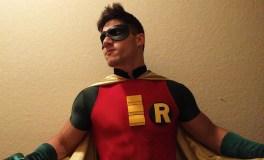 Zack Santiago with Tiger Stone FX Batman Animated Series Harley Quinn Robin mask