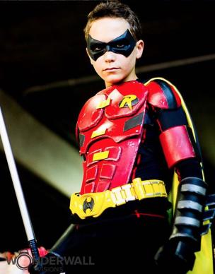 Galactic Spidey with tiger stone fx Batman Arkham Knight Robin mask