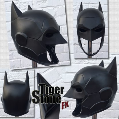 New 52 armored Batman inspired cowl head piece by Tiger Stone FX