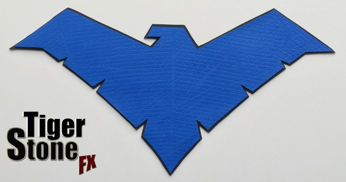 Nightwing Batman V Superman Dawn Of Justice inspired chest emblem by Tiger Stone FX