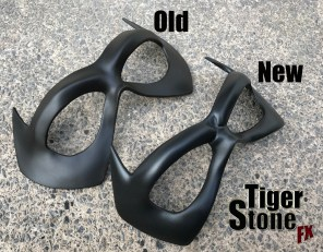 Old Vs New Jason Todd Red Hood face mask by Tiger Stone FX