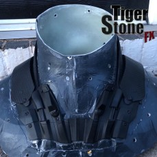 Batman Arkham Knight shoulder piece (front) made by Tiger Stone FX