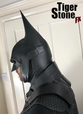 Batman Arkham Knight cowl (3 piece set) by Tiger Stone FX (side)