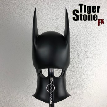 Batgirl cowl (zipper closed) (long eared) made by Tiger Stone FX